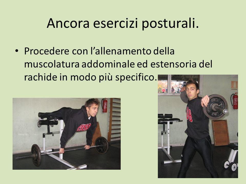 Ancora esercizi posturali.