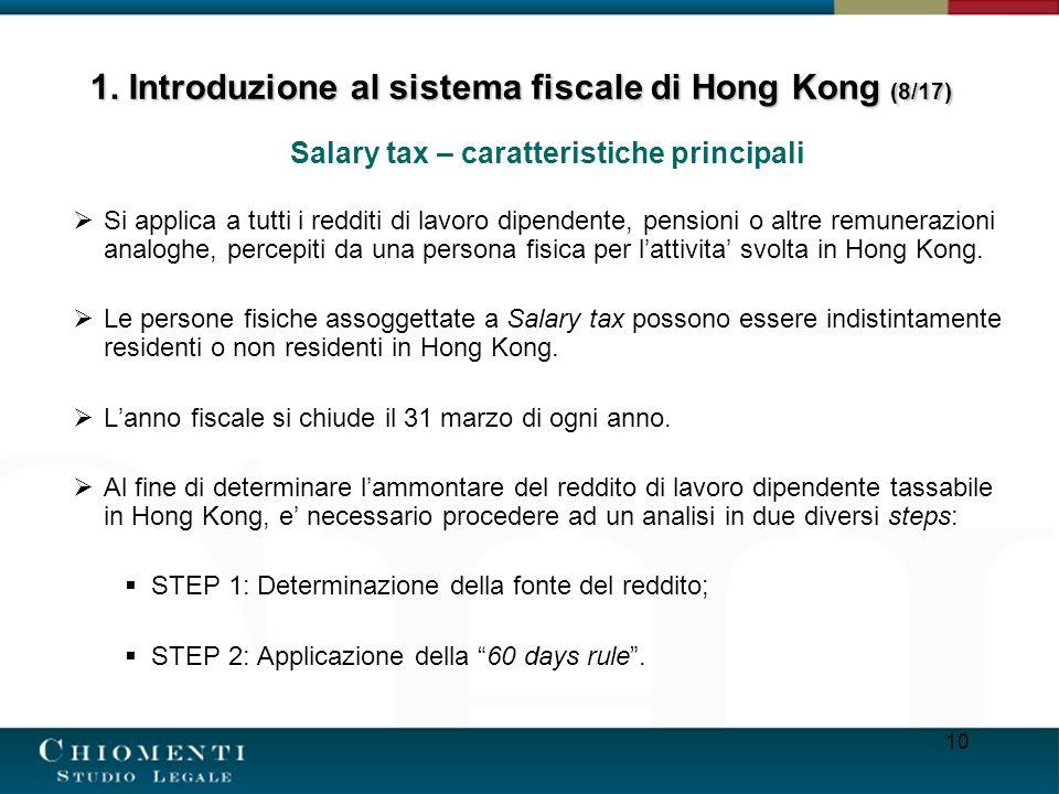 1. Introduzione al sistema fiscale di Hong Kong (8/17)