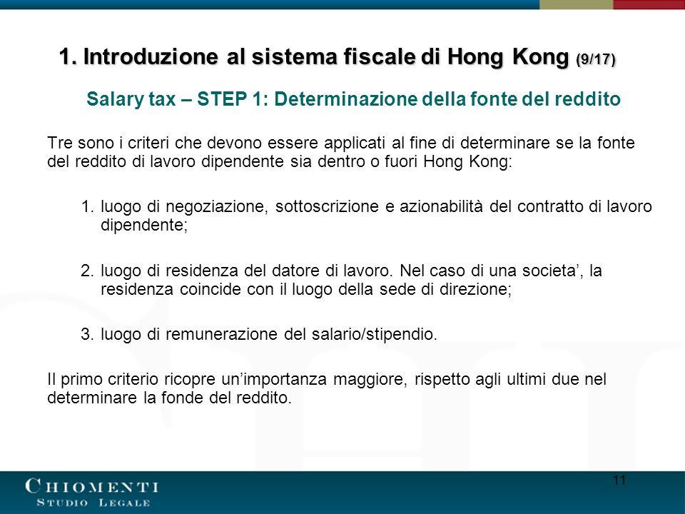 1. Introduzione al sistema fiscale di Hong Kong (9/17)