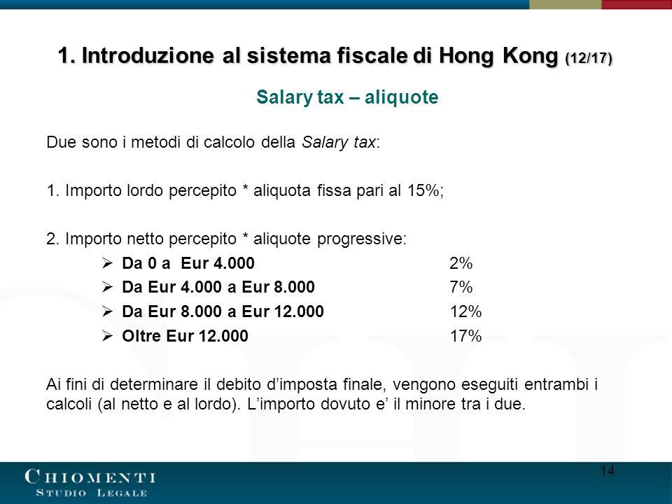 1. Introduzione al sistema fiscale di Hong Kong (12/17)