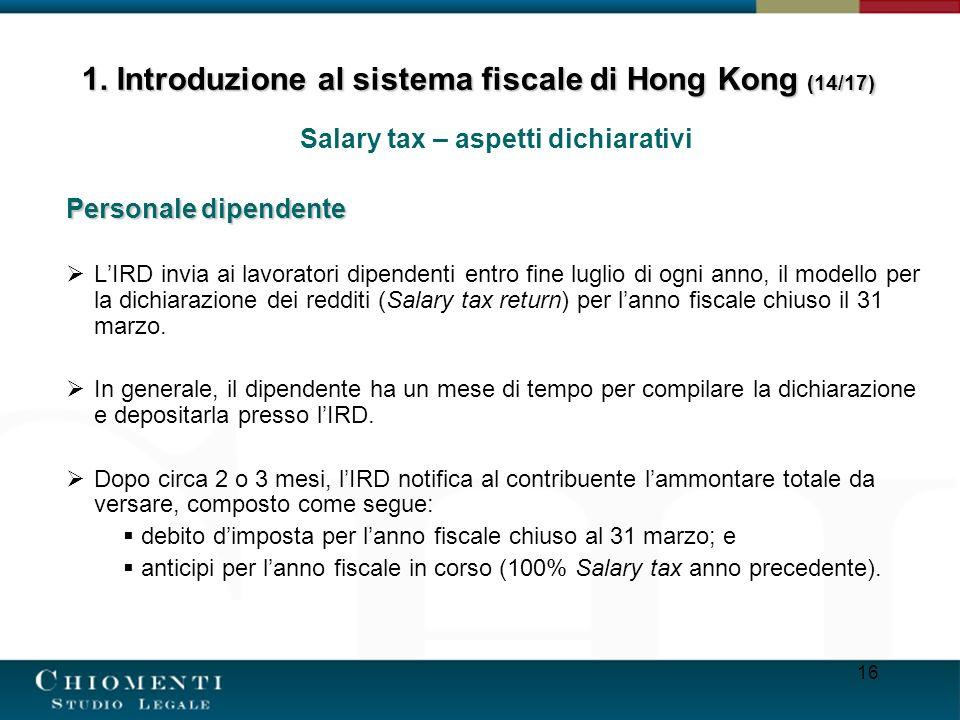 1. Introduzione al sistema fiscale di Hong Kong (14/17)