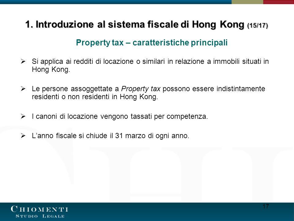 1. Introduzione al sistema fiscale di Hong Kong (15/17)
