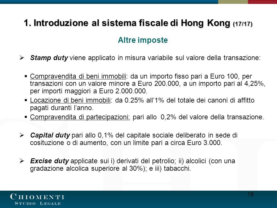 1. Introduzione al sistema fiscale di Hong Kong (17/17)