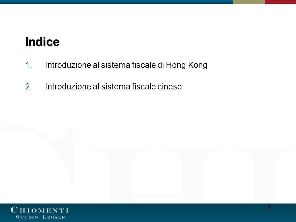 Indice Introduzione al sistema fiscale di Hong Kong