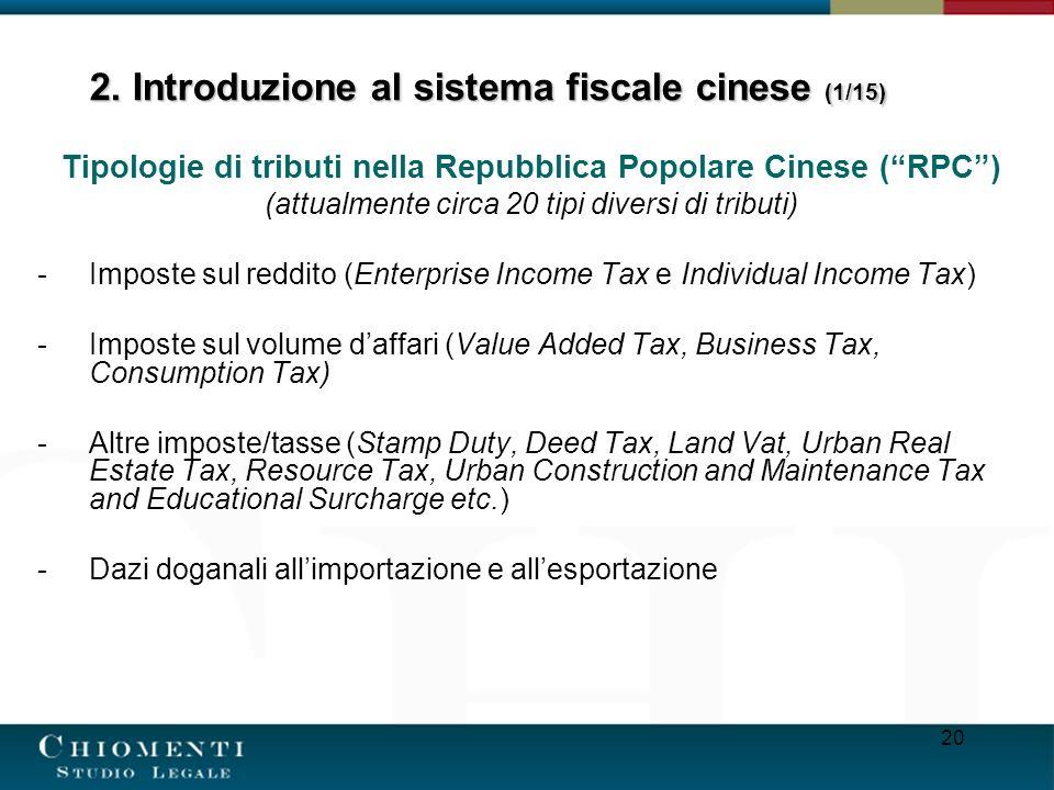2. Introduzione al sistema fiscale cinese (1/15)