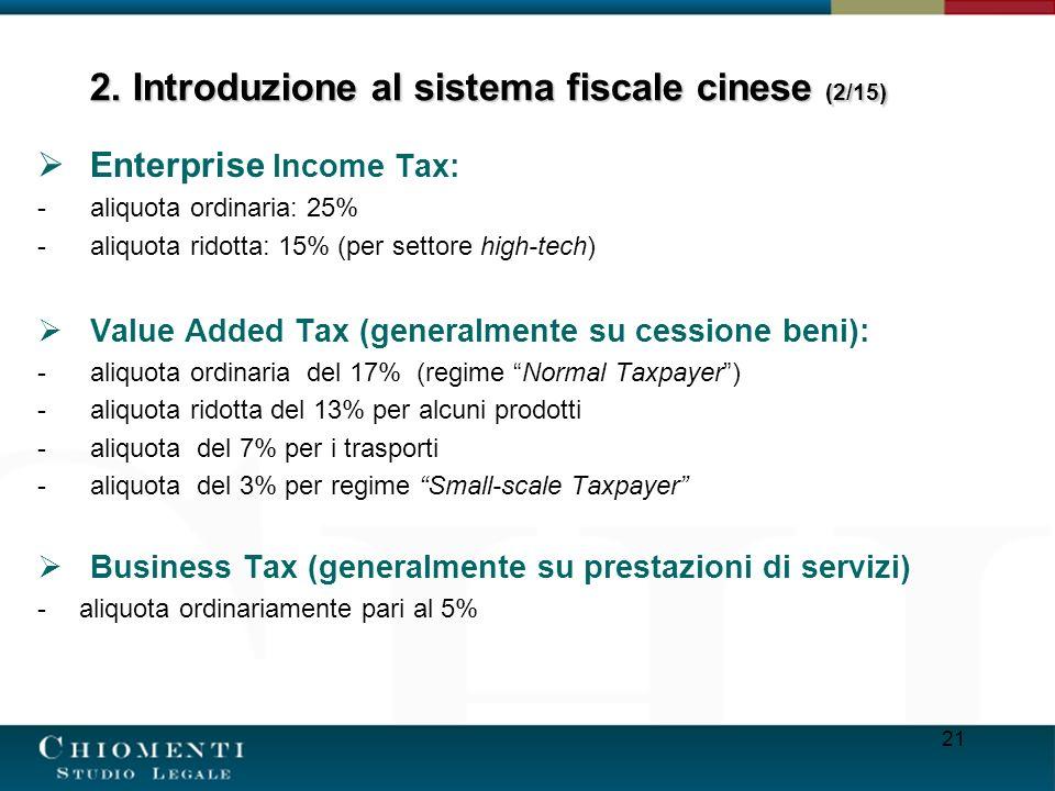 2. Introduzione al sistema fiscale cinese (2/15)