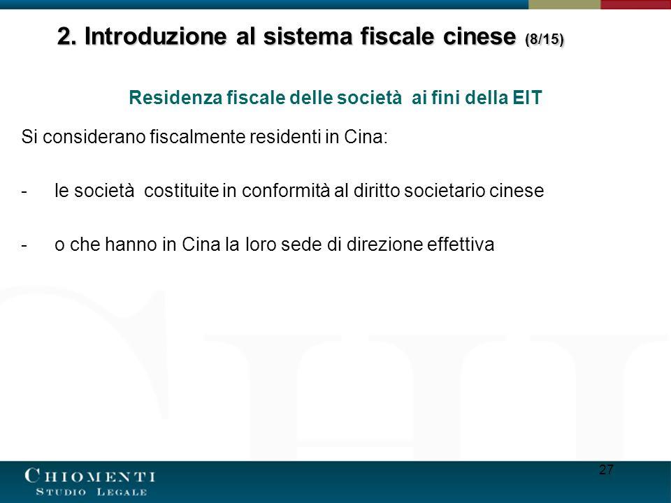2. Introduzione al sistema fiscale cinese (8/15)