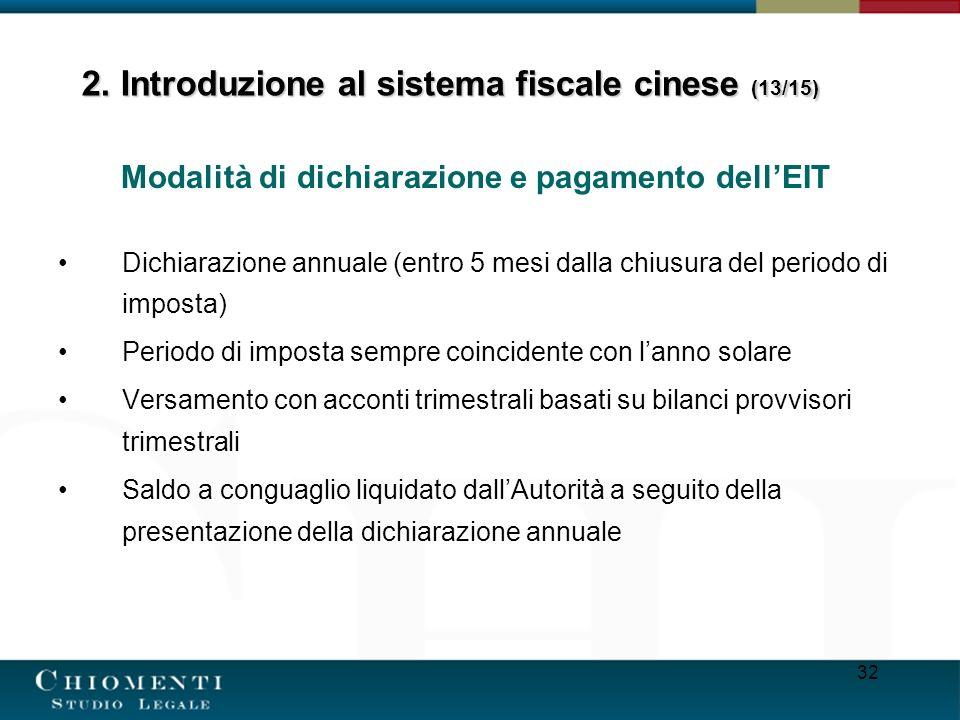 2. Introduzione al sistema fiscale cinese (13/15)