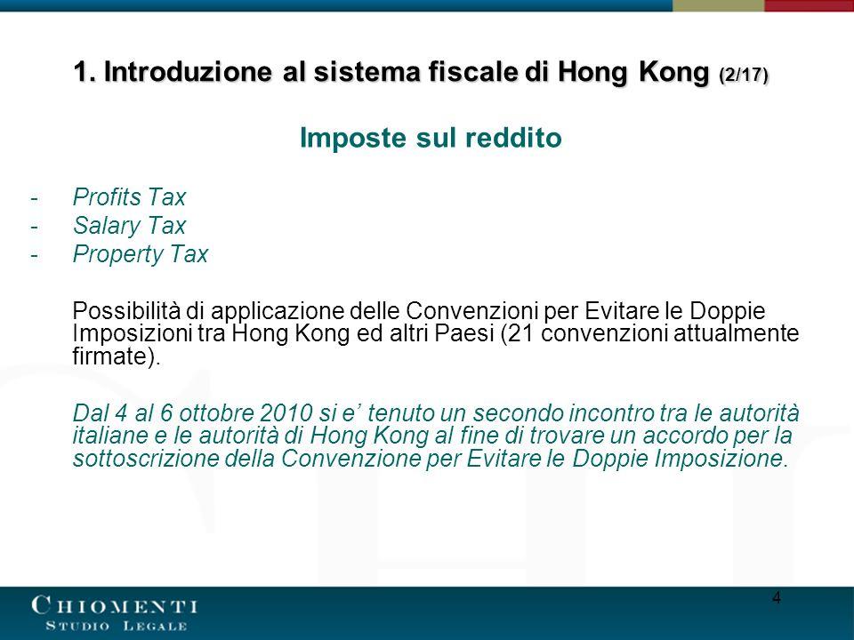 1. Introduzione al sistema fiscale di Hong Kong (2/17)
