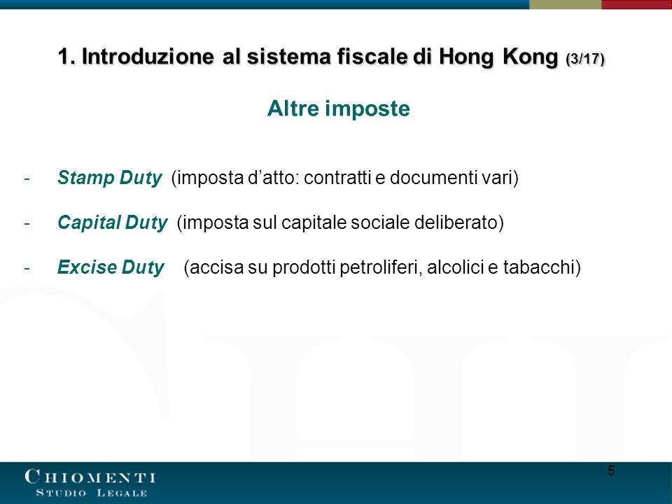 1. Introduzione al sistema fiscale di Hong Kong (3/17)