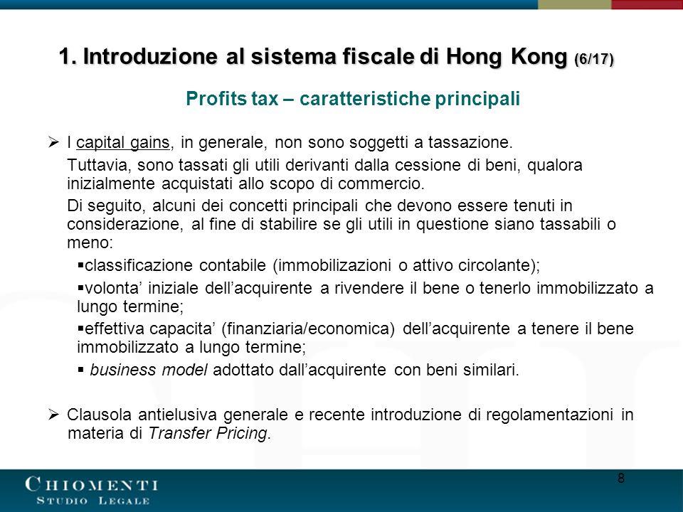 1. Introduzione al sistema fiscale di Hong Kong (6/17)