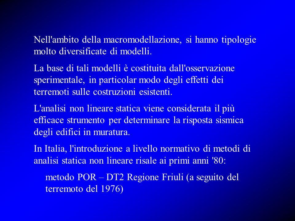 metodo POR – DT2 Regione Friuli (a seguito del terremoto del 1976)
