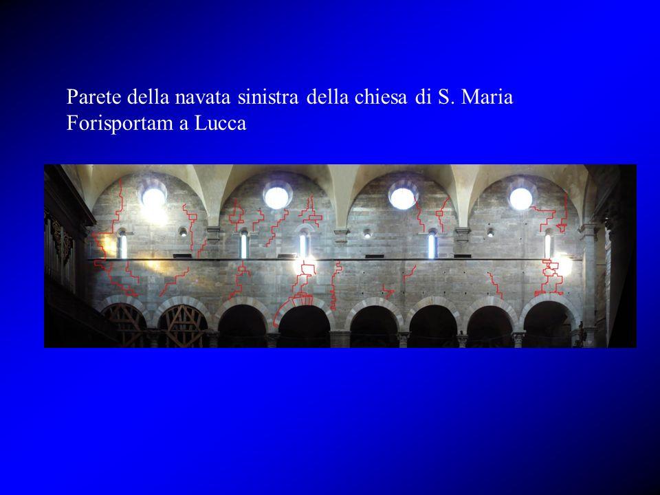 Parete della navata sinistra della chiesa di S