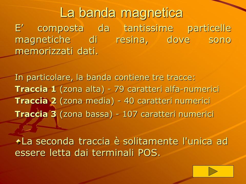 La banda magnetica E' composta da tantissime particelle magnetiche di resina, dove sono memorizzati dati.