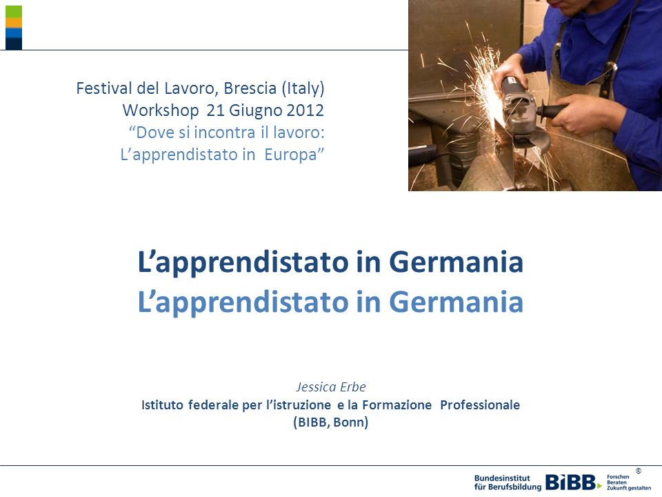 L'apprendistato in Germania L'apprendistato in Germania