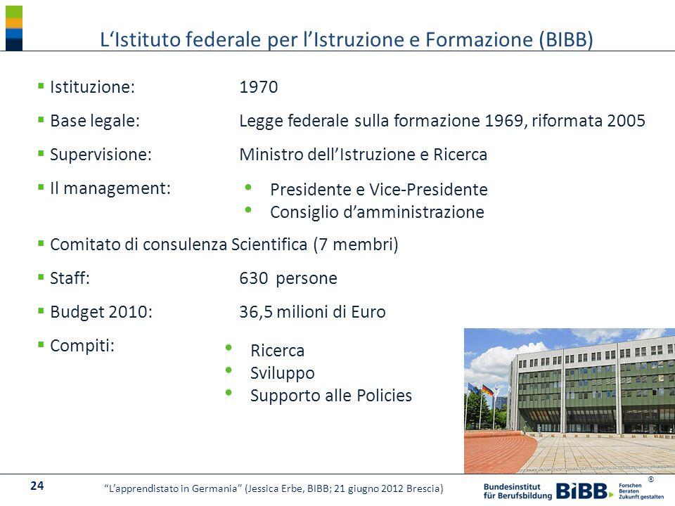 L'Istituto federale per l'Istruzione e Formazione (BIBB)