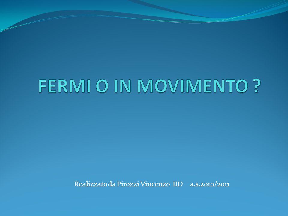 FERMI O IN MOVIMENTO Realizzato da Pirozzi Vincenzo IID a.s.2010/2011