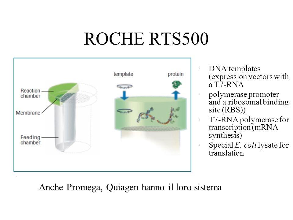 ROCHE RTS500 Anche Promega, Quiagen hanno il loro sistema