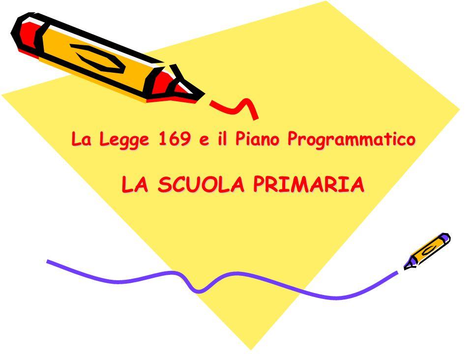 La Legge 169 e il Piano Programmatico