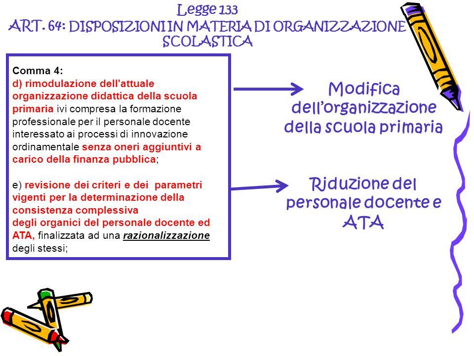Modifica dell'organizzazione della scuola primaria
