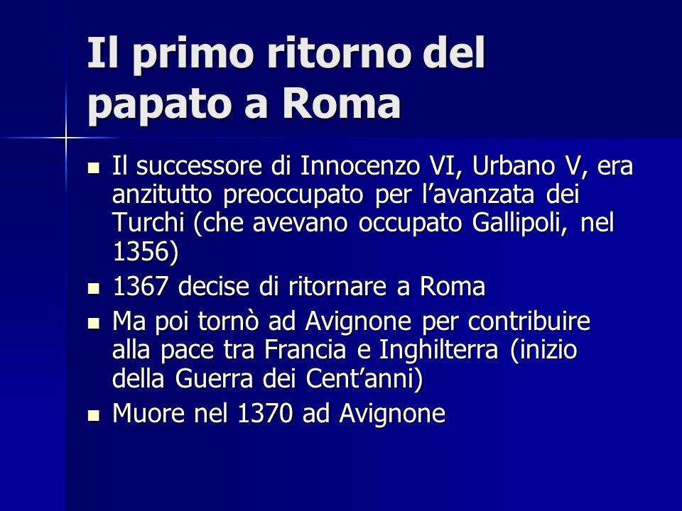 Il primo ritorno del papato a Roma