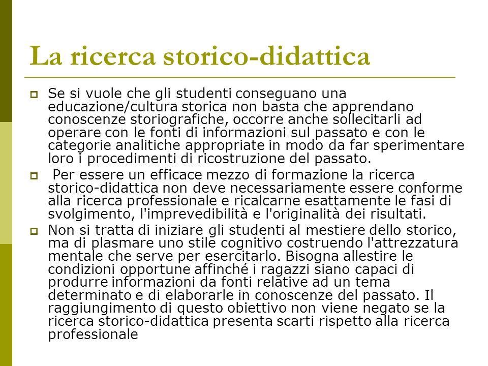 La ricerca storico-didattica