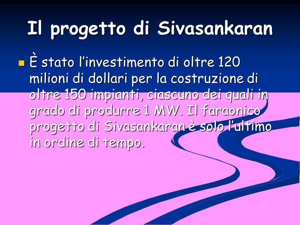 Il progetto di Sivasankaran