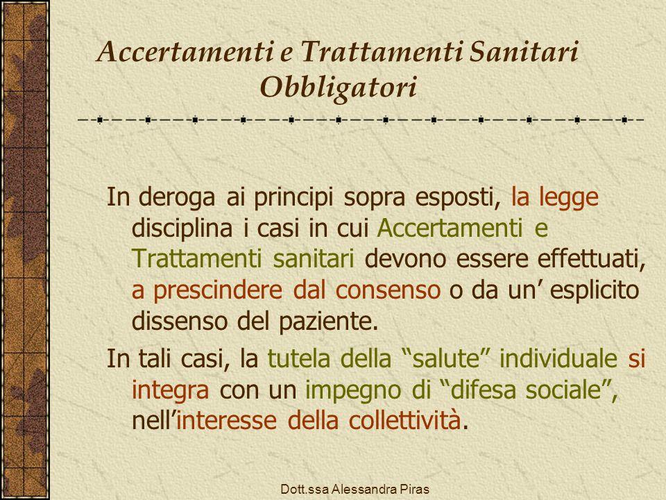 Accertamenti e Trattamenti Sanitari Obbligatori