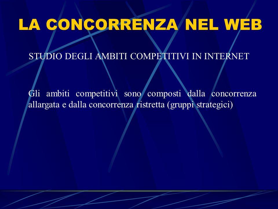 STUDIO DEGLI AMBITI COMPETITIVI IN INTERNET