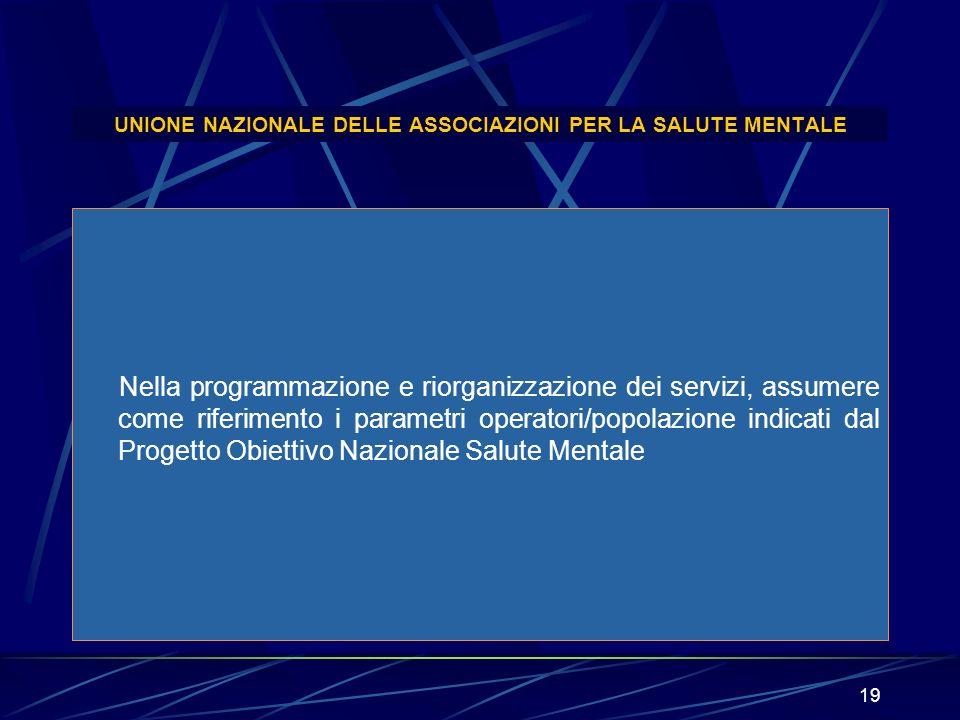 UNIONE NAZIONALE DELLE ASSOCIAZIONI PER LA SALUTE MENTALE