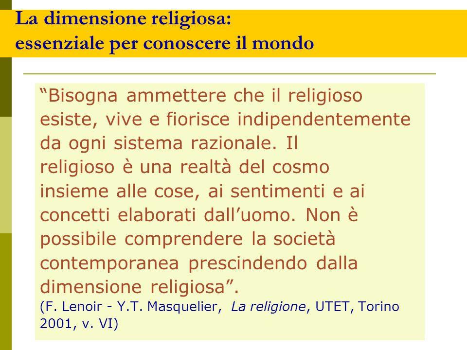 La dimensione religiosa: essenziale per conoscere il mondo