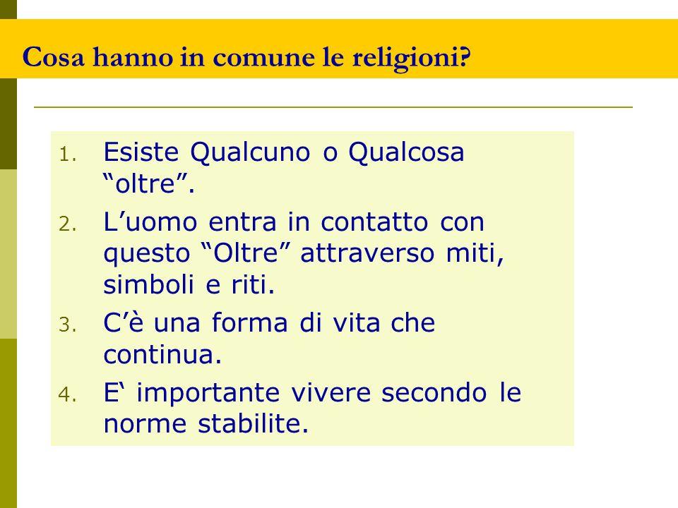 Cosa hanno in comune le religioni