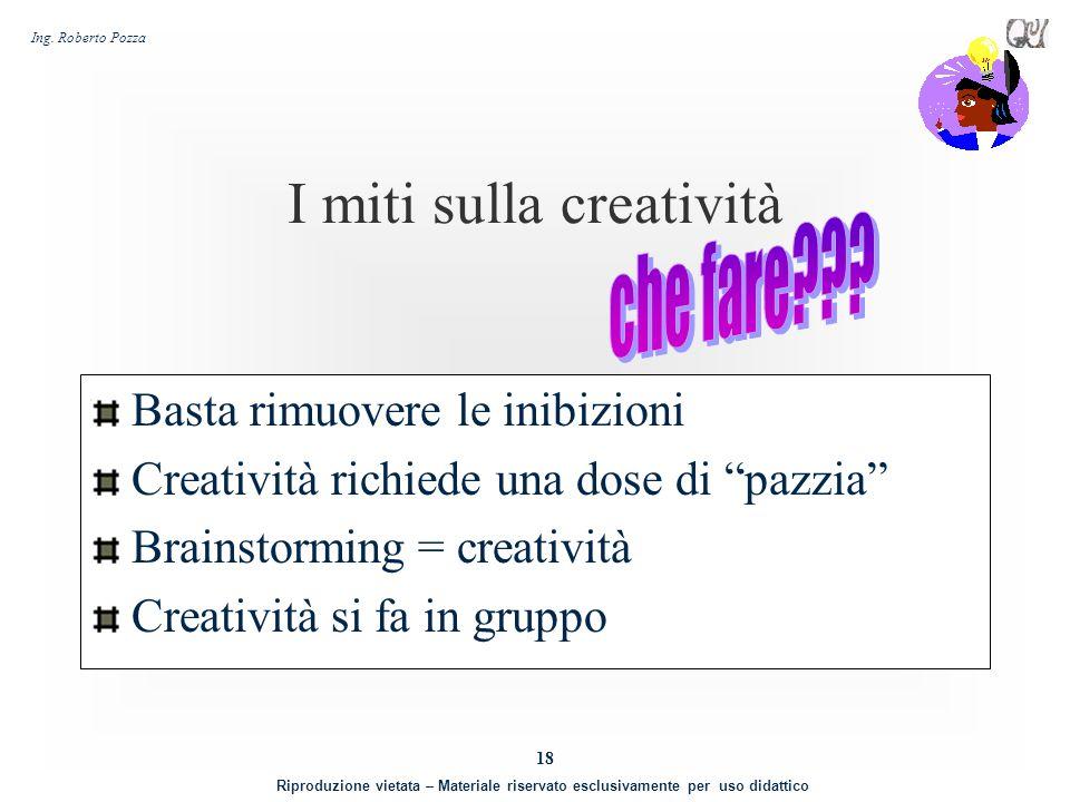 I miti sulla creatività