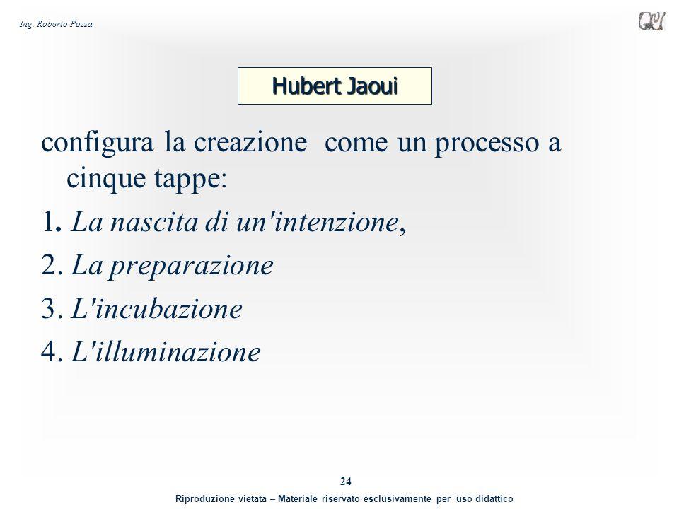 configura la creazione come un processo a cinque tappe: