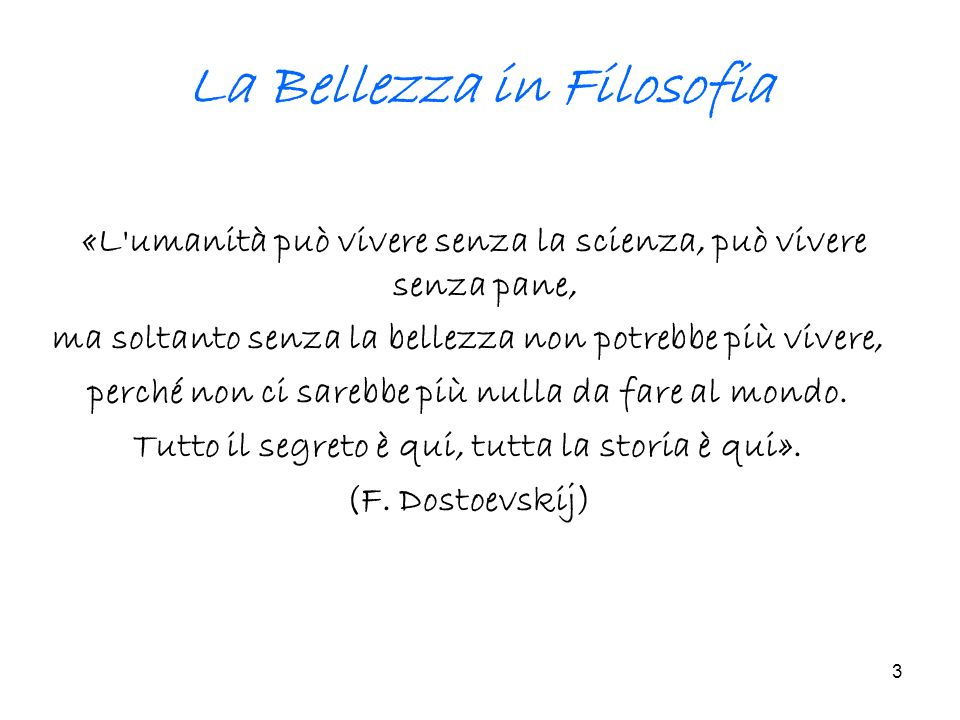 La Bellezza in Filosofia