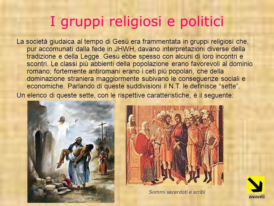 I gruppi religiosi e politici