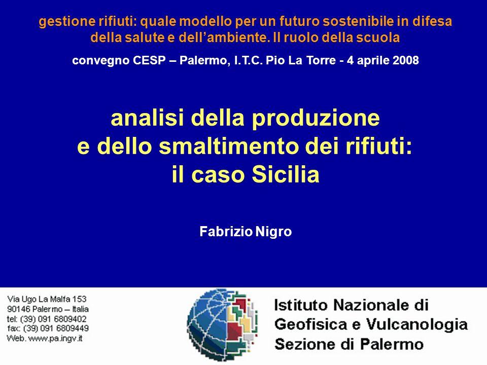 analisi della produzione e dello smaltimento dei rifiuti: