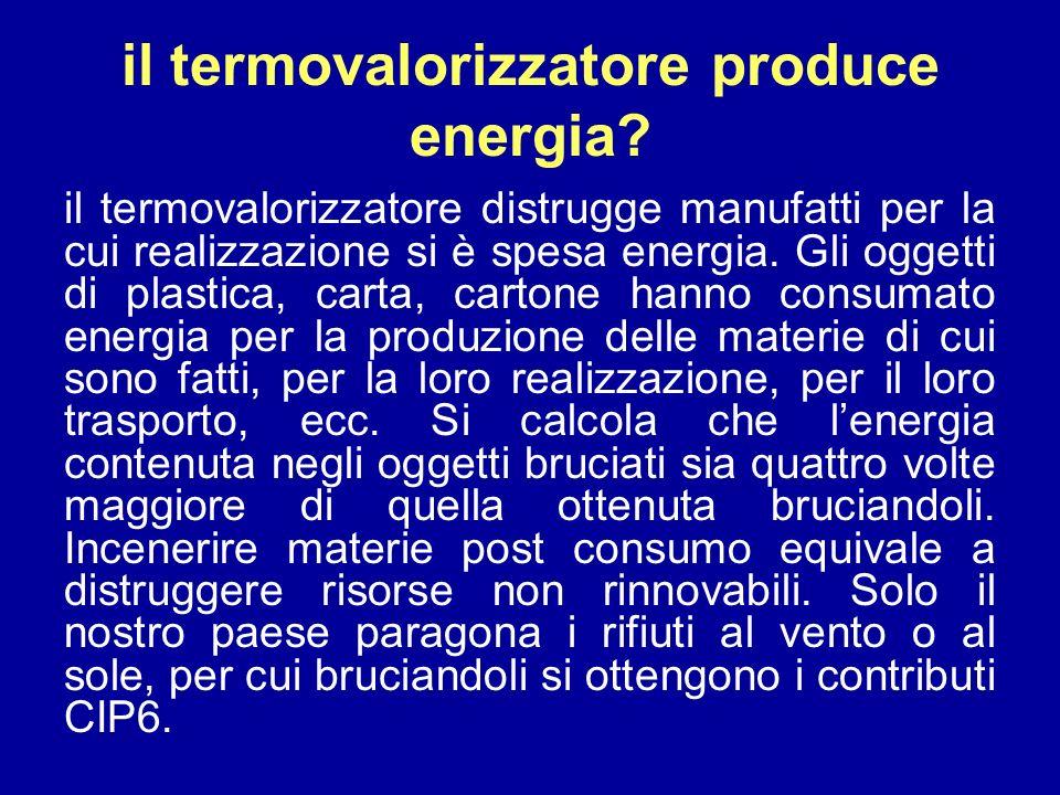 il termovalorizzatore produce energia