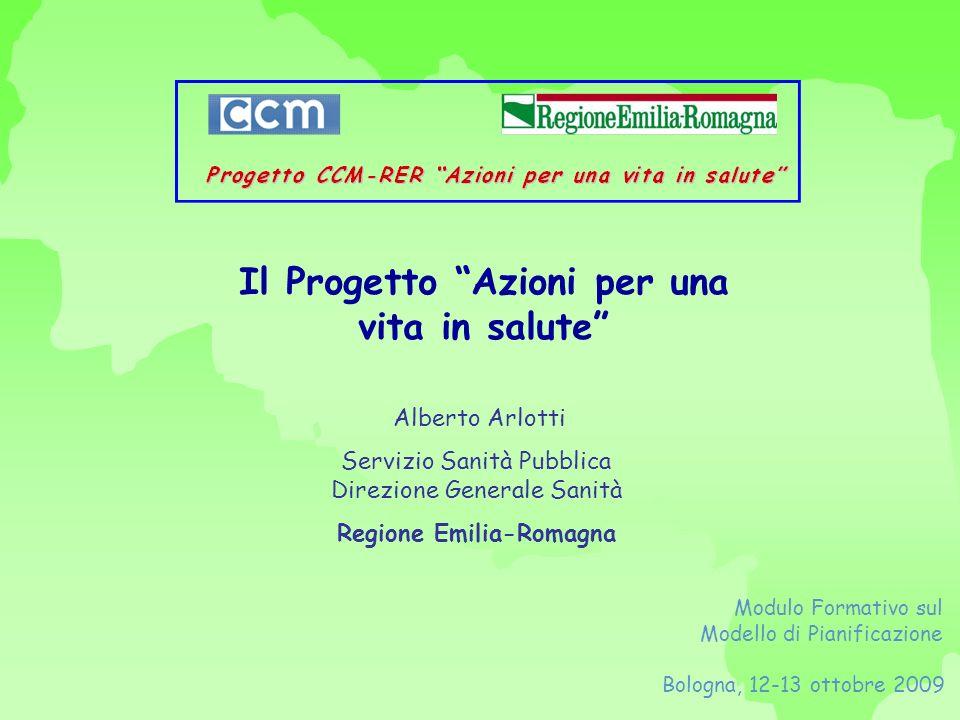 Il Progetto Azioni per una vita in salute Regione Emilia-Romagna