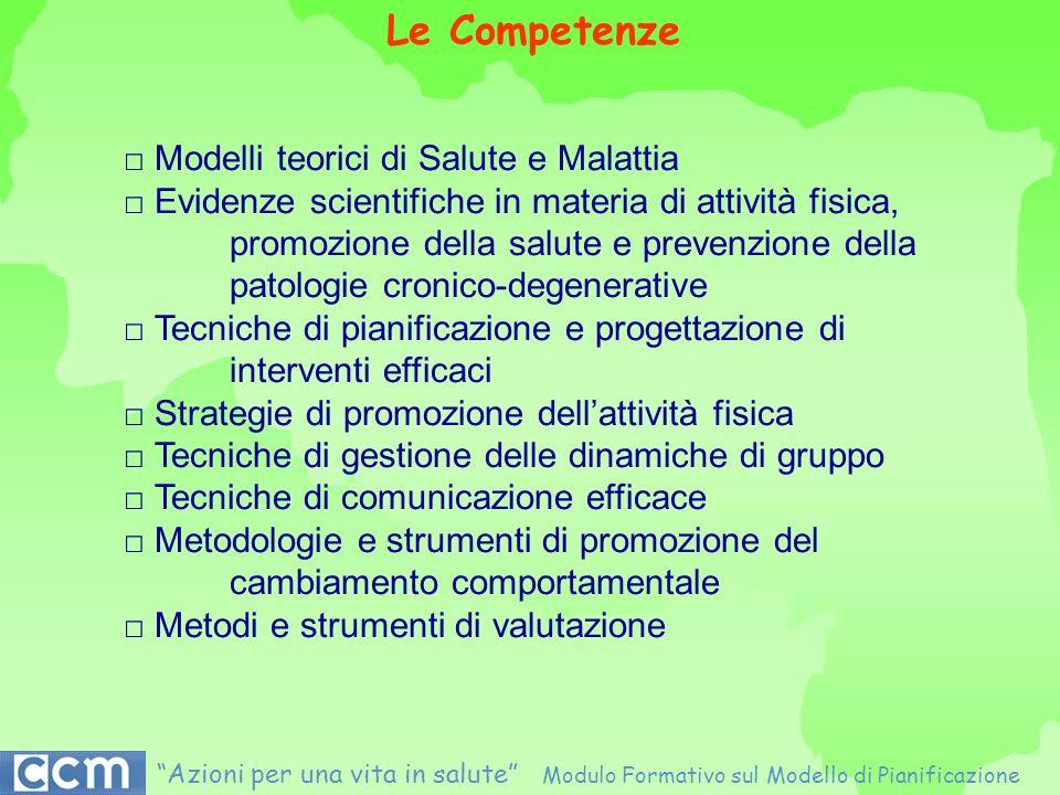Le Competenze □ Modelli teorici di Salute e Malattia