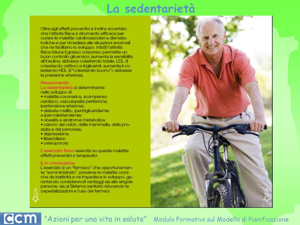 La sedentarietà Azioni per una vita in salute Modulo Formativo sul Modello di Pianificazione