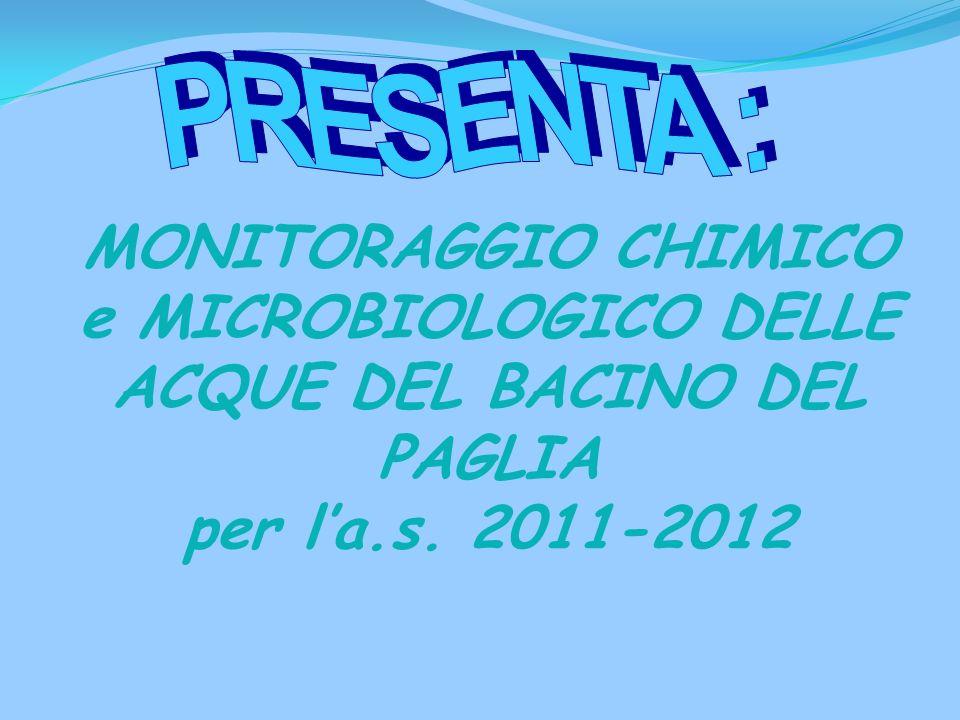 PRESENTA : MONITORAGGIO CHIMICO e MICROBIOLOGICO DELLE ACQUE DEL BACINO DEL PAGLIA.