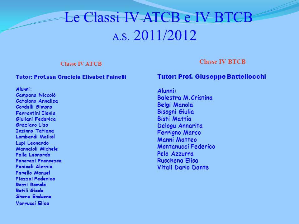 Le Classi IV ATCB e IV BTCB A.S. 2011/2012