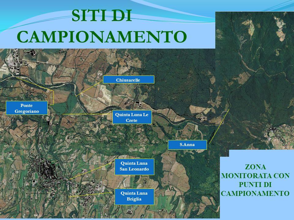 ZONA MONITORATA CON PUNTI DI CAMPIONAMENTO