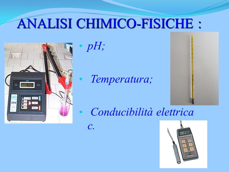 ANALISI CHIMICO-FISICHE :