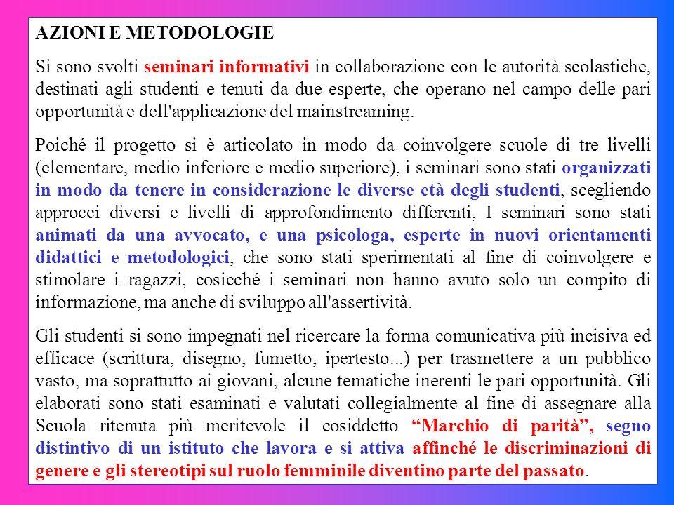 AZIONI E METODOLOGIE