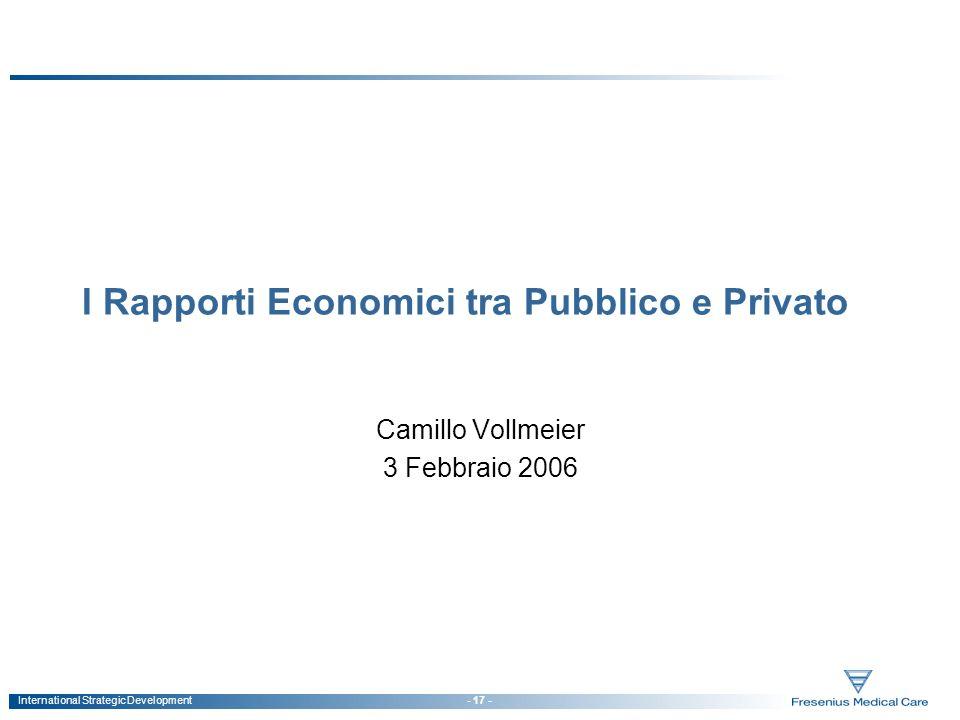 I Rapporti Economici tra Pubblico e Privato