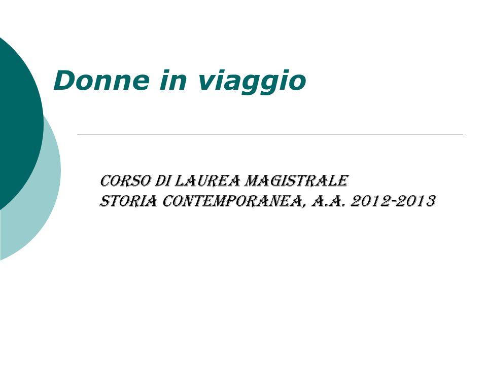 Corso di Laurea Magistrale Storia contemporanea, a.a. 2012-2013