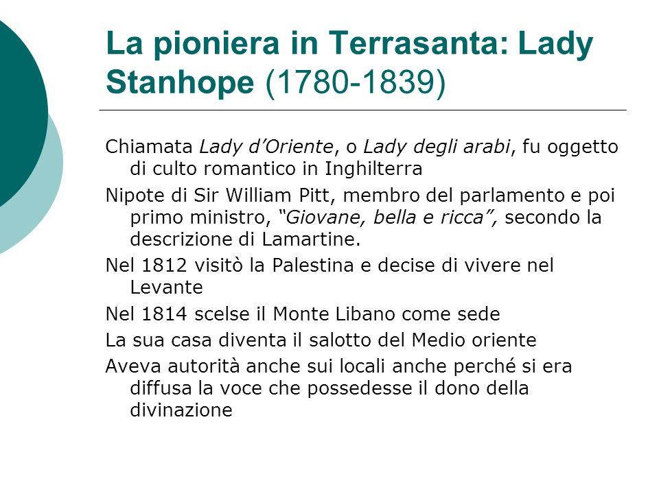 La pioniera in Terrasanta: Lady Stanhope (1780-1839)