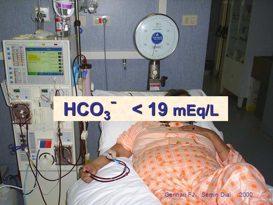 HCO3- < 19 mEq/L troppo RenaGel chi beve troppo eccessiva UF